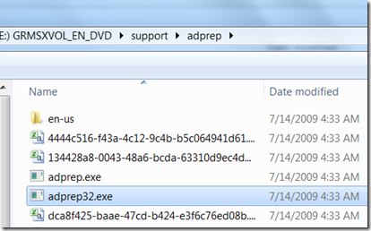 server 2008 r2 32 bit adprep
